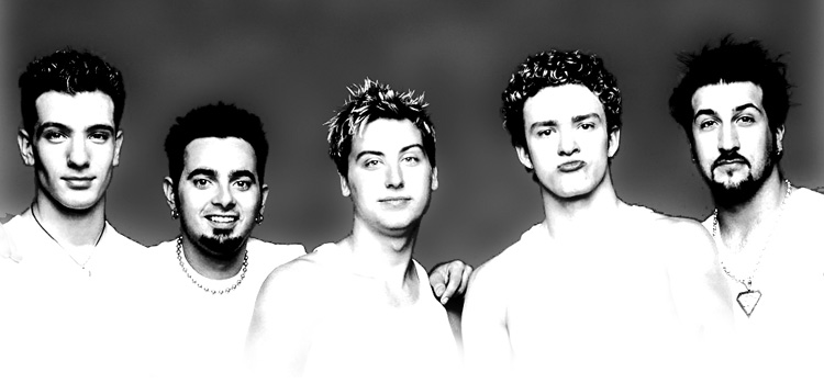 nsync in black and white